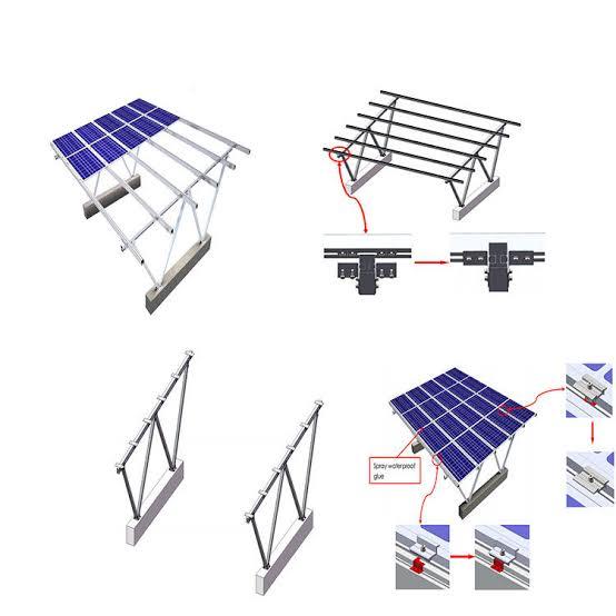 6 m-span Aluminium cross beams between uprights
