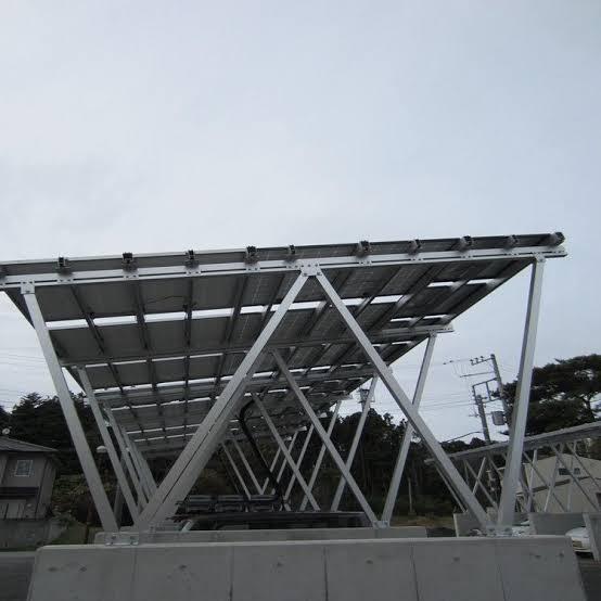 6m-span Aluminium cross beams between uprights
